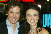 Hugh Grant and Keira Knightley at the UK charity premiere of