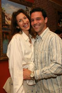 Alysia Reiner and her husband David Alan Basche at the cocktail hour during the Our Time Theatre Companys 2nd Annual Benefit Gala.