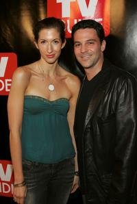 Alysia Reiner and David Alan Basche at the TV Guides Launch of New Magazine at Home and Guest House.