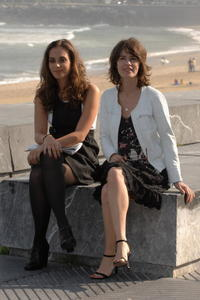Irene Jacob and Sophie Auster at the 55th San Sebastian International Film Festival, during a photcall for