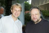 Justin Smith and Ricky Jay at the Week Publication Cocktail party.