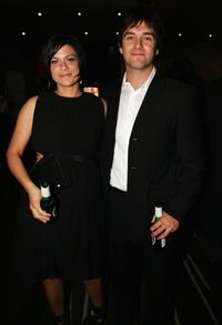 Lucy McLay and Anthony Starr at the Air New Zealand Screen Awards.