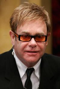 Elton John at the Cystic Fibrosis Liv Charity Event.
