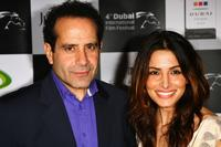 Tony Shalhoub and Sarah Shahi at the premiere of