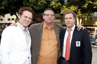 John C. Reilly, Adam McKay and Will Ferrell at the premiere of