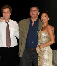Will Ferrell, Adam McKay and Eva Mendes at the panel discussion of