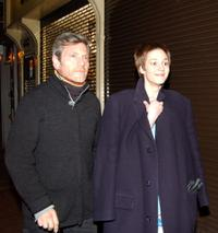 Tcheky Karyo and Nutsa Kukhiandize at the after party of the premiere of