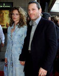 Isabelle Pasquot and Tcheky Karyo at the premiere of
