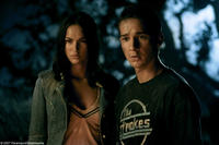 Mikaela (Megan Fox) and Sam Witwicky (Shia LaBeouf) in