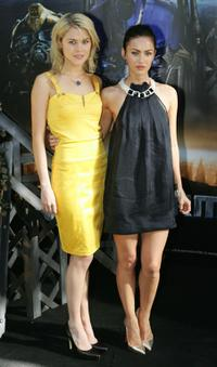Rachael Taylor and Megan Fox at the press conference of