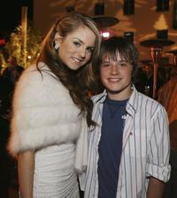 Jo Jo Levesque and Josh Hutcherson at the afterparty of the premiere of