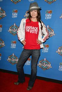 Olivia Wilde at the 57th NBA All-Star Game, part of 2008 NBA All-Star Weekend.