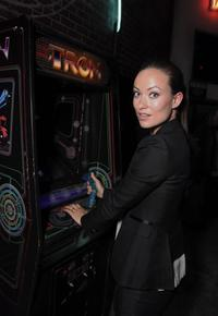 Olivia Wilde at the Tron Legacy Flynn's Arcade.