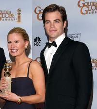 Anna Paquin and Chris Pine at the 66th Annual Golden Globe Awards.