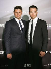 Karl Uerban and Chris Pine at the world premiere of