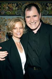 Richard Kind and his wife Dana Stanley at the pre-party for the benefit concert of musical Funny Girl.