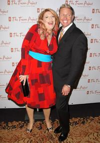 Lisa Lampanelli and Charles Robbins at the 8th Annual The Trevor Project Benefit Gala.