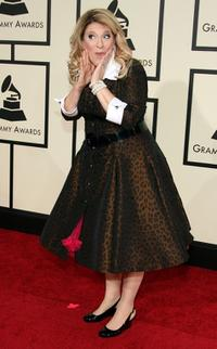 Lisa Lampanelli at the 50th Annual Grammy Awards.