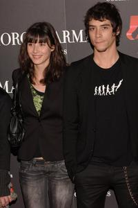Oscar Jaenada and Guest at the Spanish premiere of