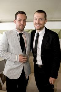 Leigh Whannell and Guest at the AAMI Victoria Derby Day.