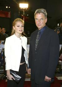 Beatrice Rosen and Mark Harmon at the premiere of