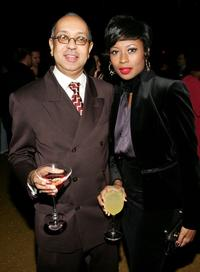 George C. Wolfe and Bettina Robinson at the after party of the premiere of