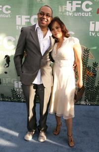 George C. Wolfe and Rosie Perez at the IFCs Independent Spirit Awards After party.