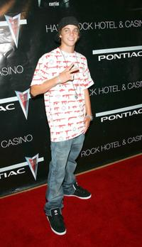 Ryan Sheckler at the concert by rapper 50 Cent.