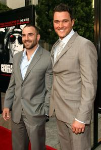 Marine Eric Koche and Owain Yeoman at the premiere of