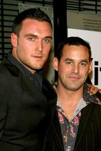 Owain Yeoman and Nicholas Brendon at the premiere of