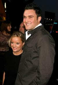 Lucy Davis and Owain Yeoman at the premiere of