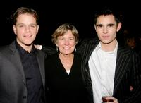 Matt Damon, Nancy Carlsson-Paige and Max Minghella at the after party of the premiere of