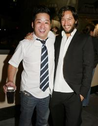 Bobby Lee and Greg Shapiro at the after party of the premiere of