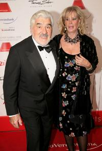 Mario Adorf and Monique at the 35th German Film Ball.