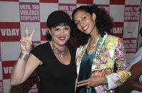 Eve Ensler and Suheir Hammad at the V-DAY's