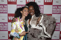 Suheir Hammad and Georgia Me at the event of V-Day Presents