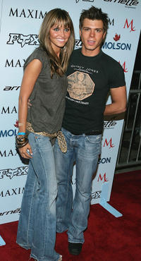 Matthew Lawrence and Guest at the Maxim Magazine X-Games party in California.