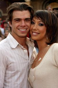 Matthew Lawrence and Cheryl Burke at the premiere of
