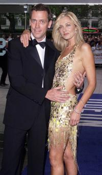 Hugh Laurie and Joely Richardson at the UK premiere of