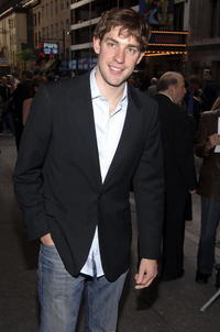 John Krasinski at the Broadway Opening of The Caine Mutiny Court-Martial in New York City.