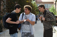 Christopher Mintz-Plasse, Jonah Hill and Michael Cera in