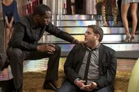 Sean Combs as Sergio Roma and Jonah Hill as Aaron in