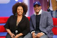 Jill Scott and Tyler Perry at the BET's 106 and Park.