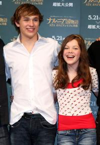 William Moseley and Georgie Henley at the press conference to promote