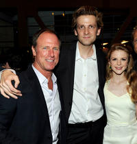 Louis Herthum, director Daniel Stramm and Ashley Bell at the California premiere of