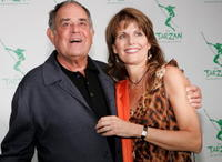 Laurence Luckinbill and Lucie Arnez at the opening night of