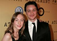 Saoirse Ronan and James McAcoy at the premiere of