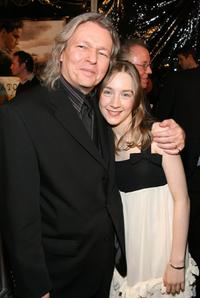 Christopher Hampton and Saoirse Ronan at the premiere of