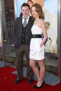Keir O'Donnell and Jayma Mays at the premiere of