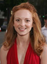 Jayma Mays and Adam Campbell at the premiere of